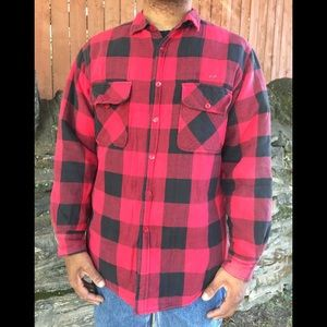 Other - Vintage flannel button front shirt Mens Large